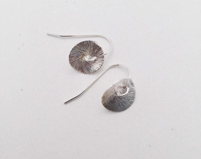 Silver Poppy Earrings