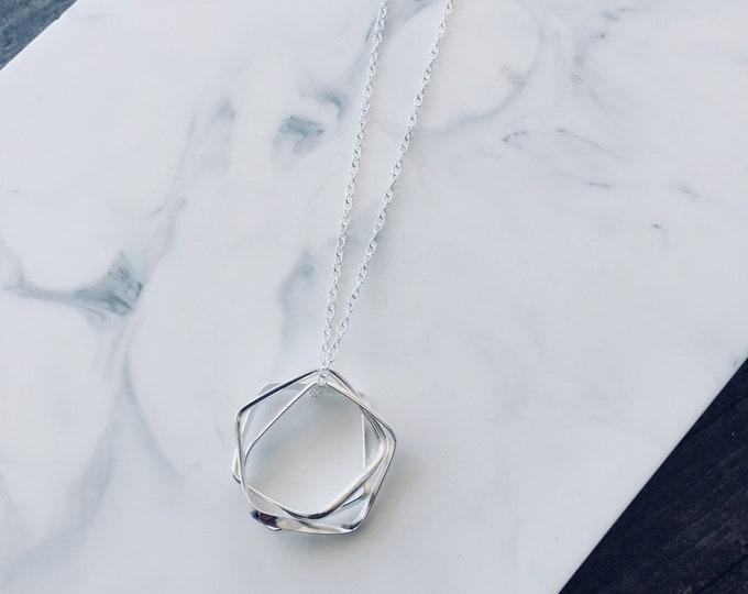 Sterling Silver Triple Mila Pendant Necklace