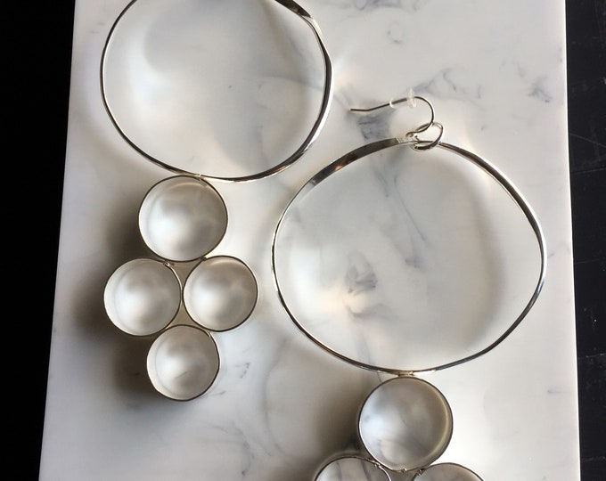 Contemporary Circle Chandelier Earrings.