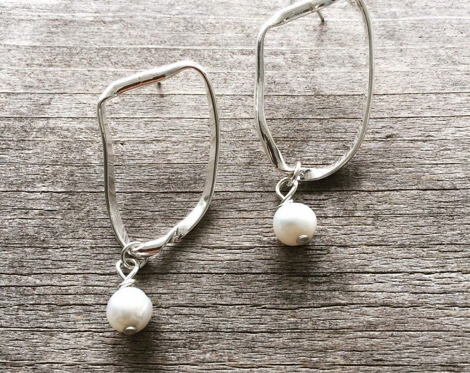 Mila Drop Earrings with Pearl Charms