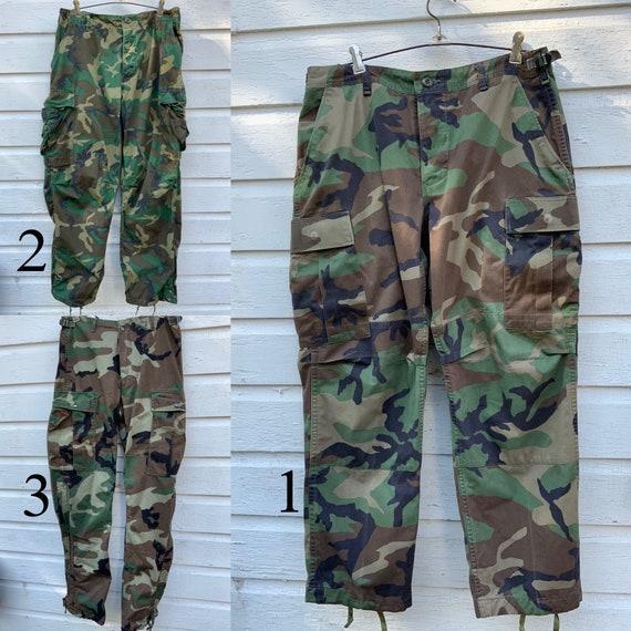 Vintage Camo Pants,//Your Choice//, Army Pants, Mi