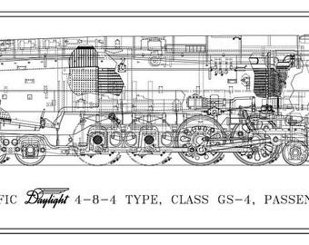 Steam Locomotive Charts & Drawings by LocomotiveCharts on Etsy