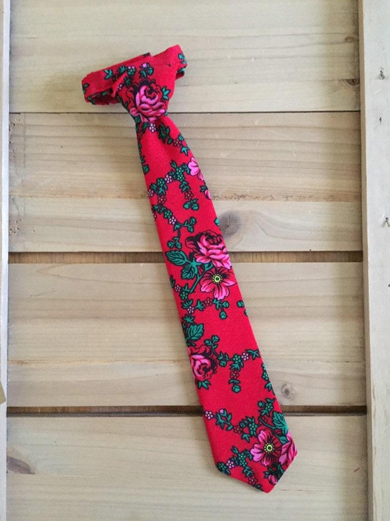 Red Goralski Floral Kid/'s Tie