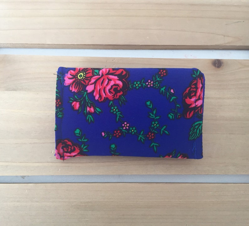 Blue Polish Floral Mini Wallet