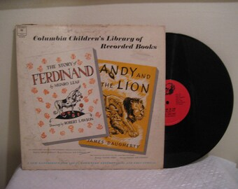 the story of ferdinand and andy and the lion, library of recorded books, lp (record)