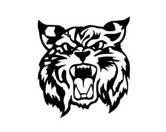 Wildcat Head Digital SVG File