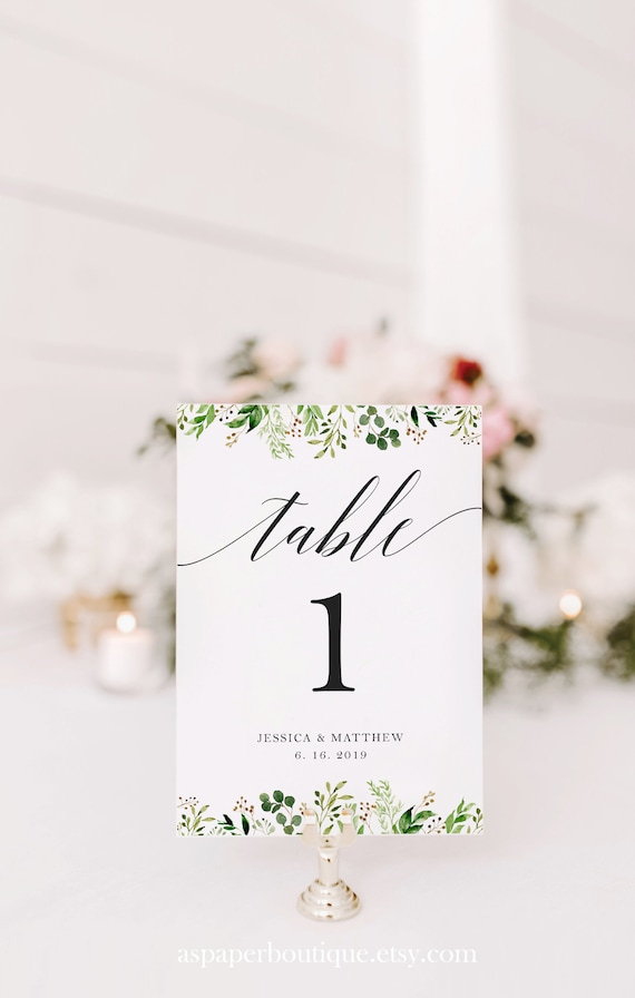 image regarding Diy Printable Table Numbers named Greenery Wedding ceremony Desk Range, Printable Desk Quantity Card, Figures Template, Do-it-yourself Desk Quantities, Thoroughly Editable, Test Ahead of Your self Purchase, #17_G01