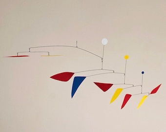 56 Inch Kinetic Mobile Sculpture Made by J.E.