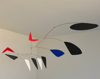 53 Inch Kinetic Mobile Sculpture made by J.E.