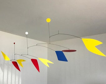 52 Inch Kinetic Mobile Sculpture
