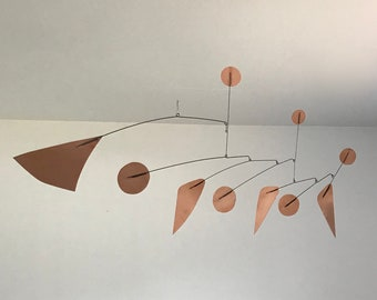 40 Inch Copper Kinetic Mobile Sculpture