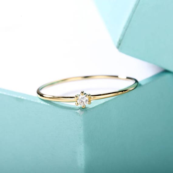 Minimalist Engagement Ring Solitaire Simple Engagement