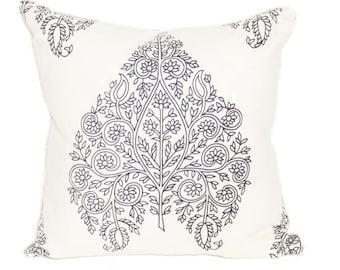 "Raj Paisley Pillow Cover 18"" x 18"""