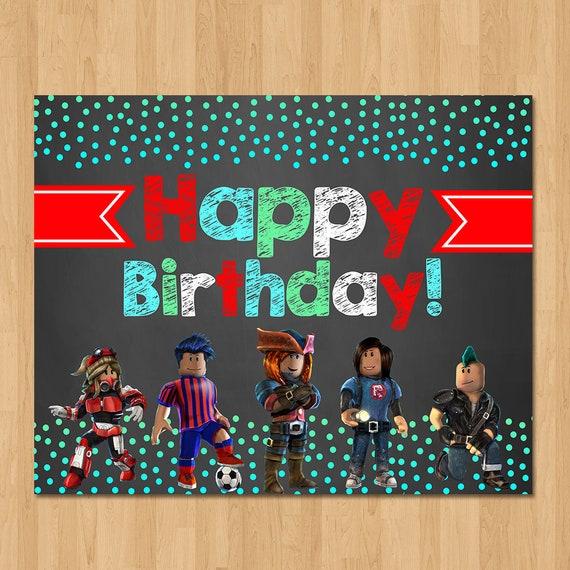Roblox Happy Birthday Sign Chalkboard Roblox Birthday ...