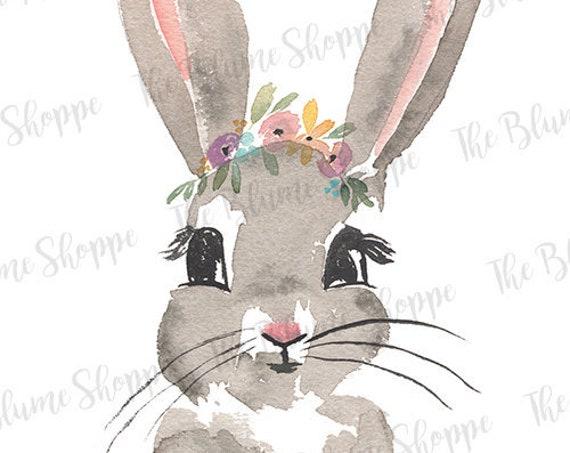 Bunny Woodland Print
