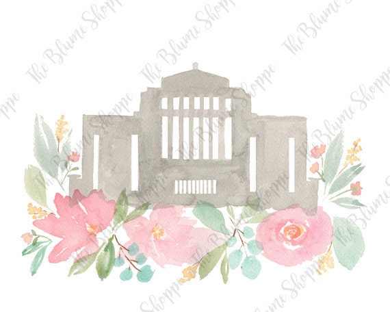 Cardston Temple | Pink Floral