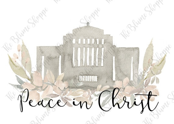 Peace In Christ | Cardston Temple Neutral Floral
