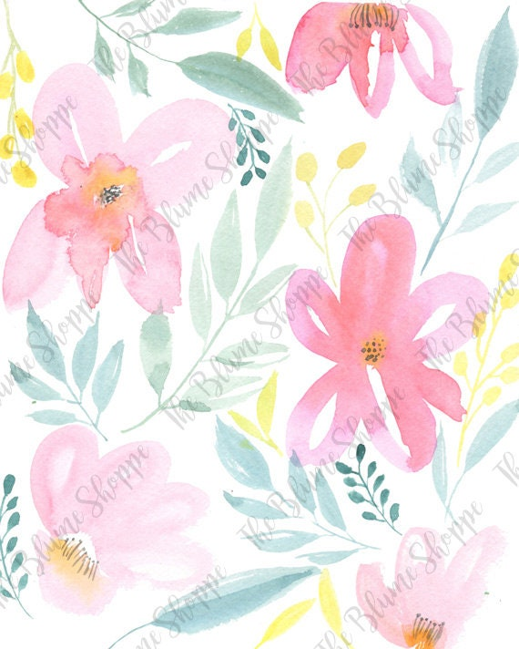 Tropical Floral | watercolour