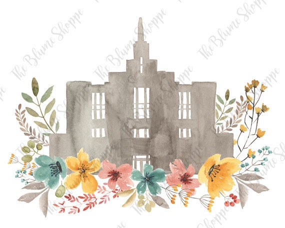 Calgary Temple | vintage floral
