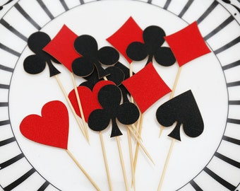 Spade Cupcake Topper /casino party cupcake topper/table decorations/Birthday cupcake topper/card suit Party