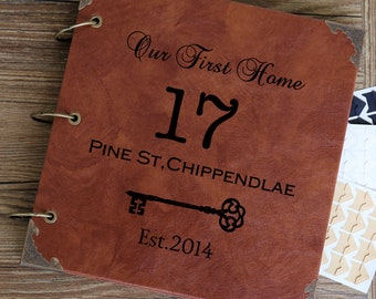 Personalized New Home Photo Album /Custom housewarming gift /Guestbook /party decor/our first home