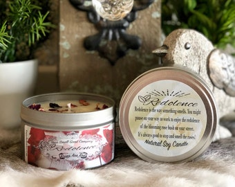 Roses are Red 8oz. Natural Soy Candle Tin and 3oz Wax Melt