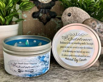 Blue Spruce 8oz. Natural Soy Candle Tin or 3oz wax melt. Christmas tree scent