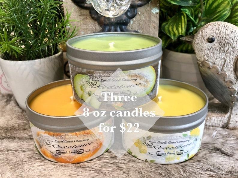 Choose Any Three 8oz. Natural Soy Candles image 0