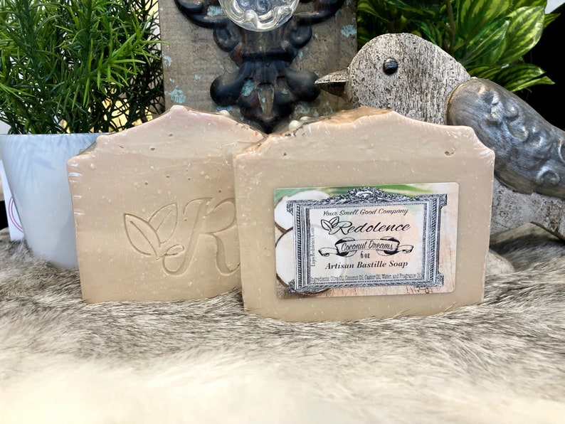 All Natural Coconut Dreams 6oz Bastille Soap. Olive oil image 0