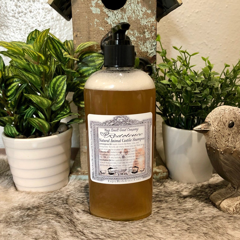 All Natural 8oz Animal Castile Liquid Shampoo made with image 0