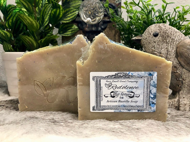 All Natural Blue Spruce 6oz Bastille Soap. Olive oil coconut image 0