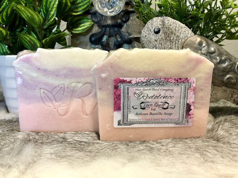 All Natural Love Spell 6oz Bastille Soap. Olive oil coconut image 0