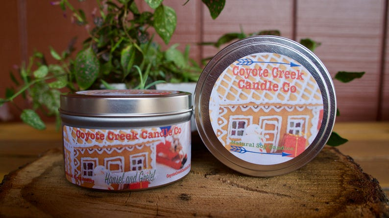 Hansel and Gretel 8oz. Natural Soy Candle Tin image 0