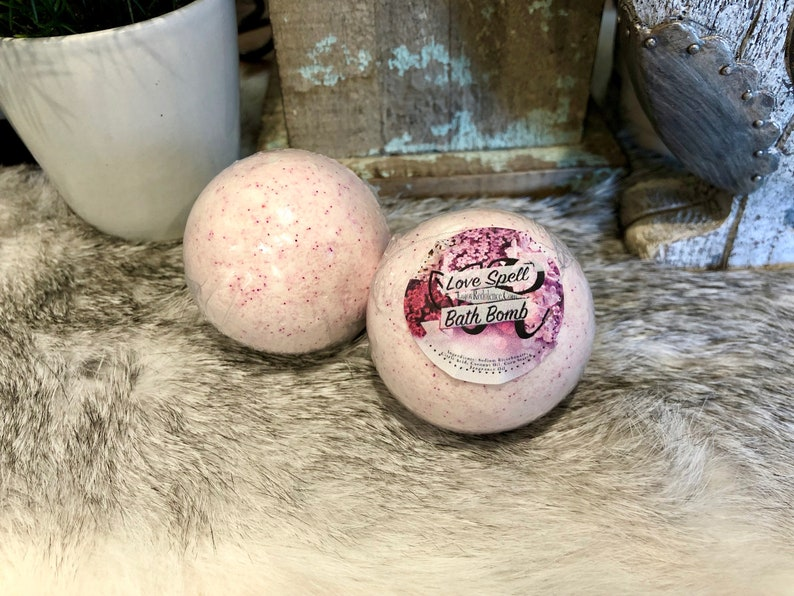 Love Spell 3.5oz Bath Bomb. Moisturizing Gifts for her Bath image 0