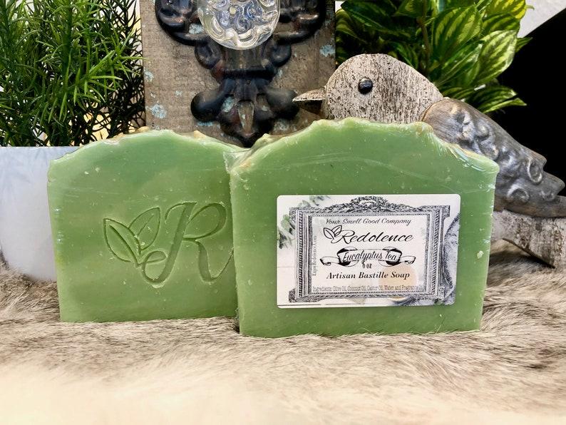 All Natural Eucalyptus Tea 6oz Bastille Soap. Olive oil image 0