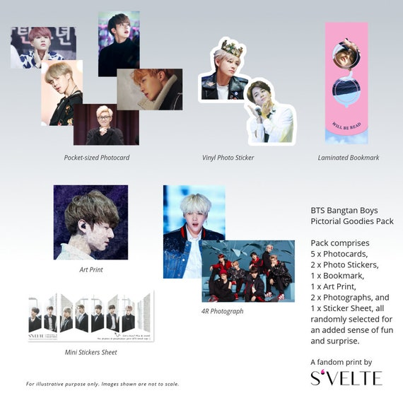 BTS Jimin Gift: Photocards Vinyl Stickers /& More A Fandom Pictorial Goodies Pack by S/'VELTE. Bookmark