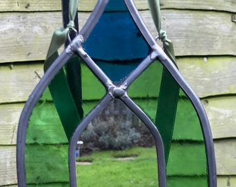 Stained Glass Mirror Church Window Shape