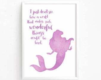 Sale 50% Off Little Mermaid Ariel Watercolor Printable | Etsy