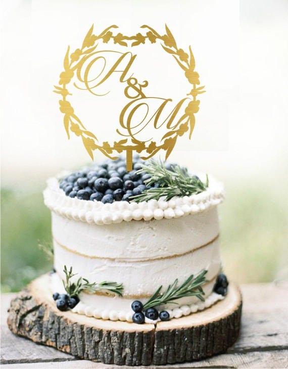 Hochzeit Kuchen Topper Initialen Personalisiert Etsy
