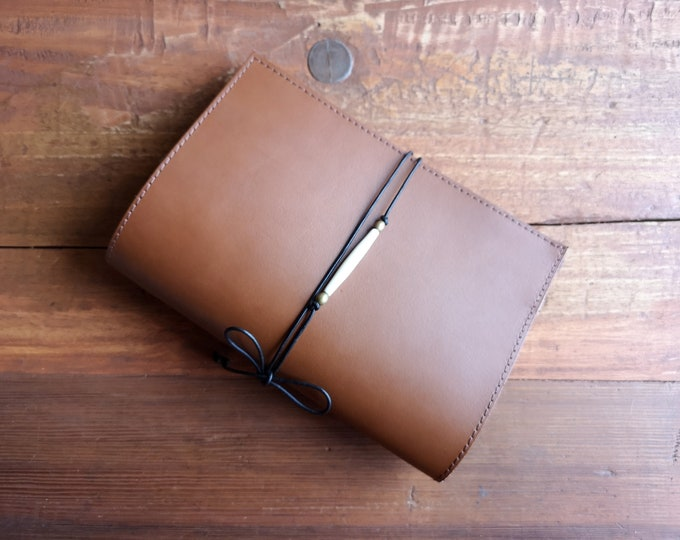 Robust, Brown, Leather Folder Cork Bags, U-Booklet Sleeve, Also for Mother Pass, Notes, A4 Sheets, Letters, Chip Card, Business Card