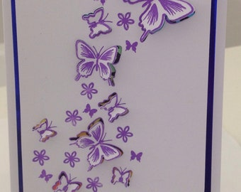 Beautiful butterfly birthday card that could be used for any occasion such as thank you, get well, thinking of you or just because.