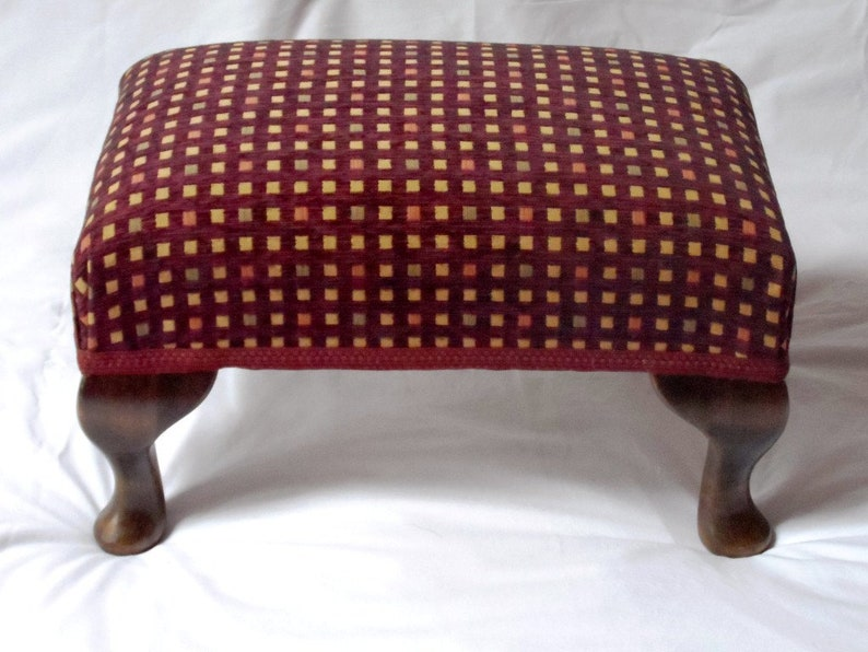 Traditionally Made Footstool 10 Tall  Queen Anne Legs  Special Order