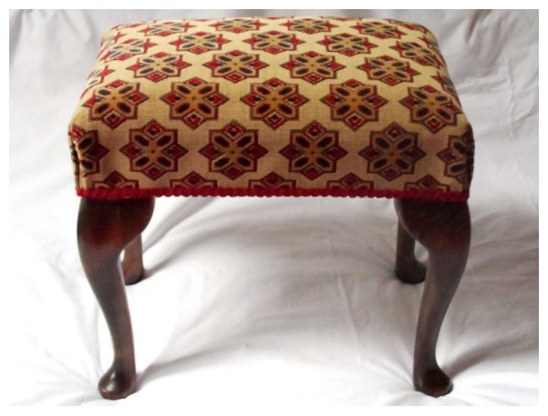 Traditionally Made Footstool 20 Tall  Queen Anne Legs  Special Order