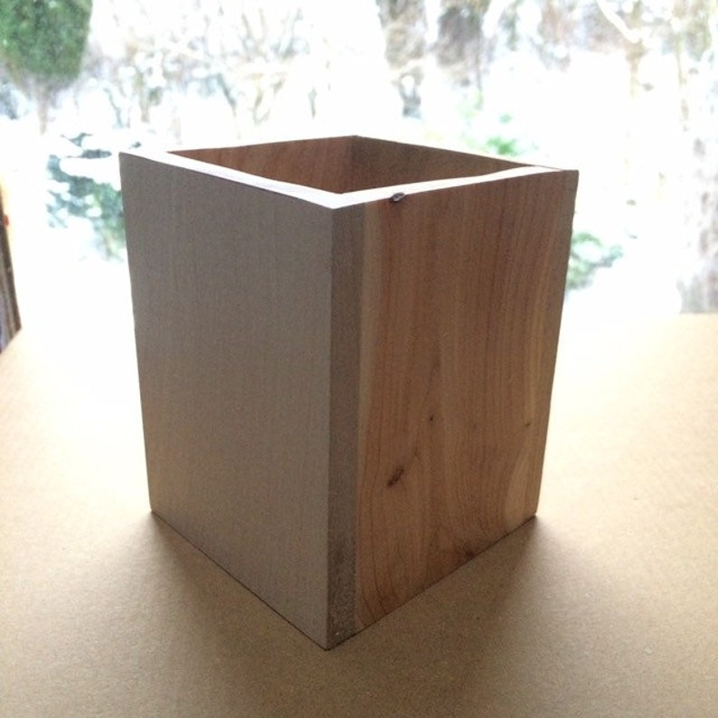 Natural Wood Handmade Pencil Box image 0