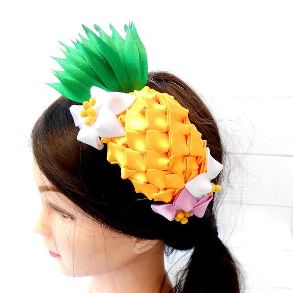 Pineapple fruit headpiece Adult headband fascinator Pineapple  5fc458ec0ea