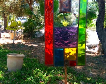 Stained glass, Mobile, New home, Glass suncather, Home decoration, Garden decor,