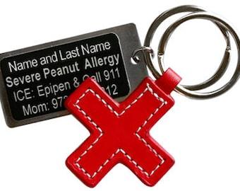 Medical Tag/Engraved Medical Tag/Medical Alert Tag/Red Cross/Medical ID