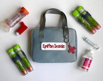 Epipen Case/Epi Carrier/Epipen Carrier/Epipen Bag/Auvi-q Bag/Medicine Bag/Inhaler Case/Travel Bag/Diabetes Supplies Bag/First Aid