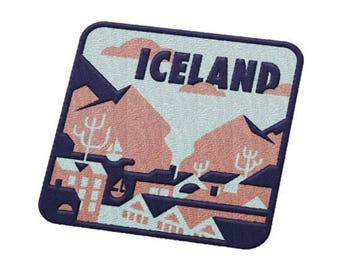 Reykjavik, Iceland Travel Patch