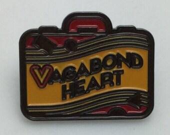Vagabond Heart - Wanderer Suitcase Travel Enamel Lapel Pin